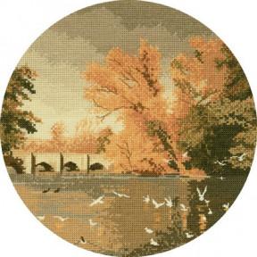 Autumn Reflections Набор для вышивания крестом Heritage Crafts H397