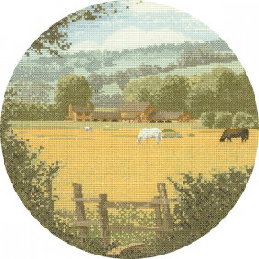 Buttercup Meadow Набор для вышивания крестом Heritage Crafts H273