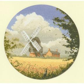 Corn Mill Набор для вышивания крестом Heritage Crafts H339