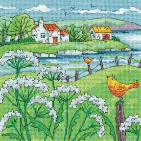 Cow Parsley Shore Набор для вышивания крестом Heritage Crafts H1522