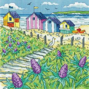 Sea Holly Shore Набор для вышивания крестом Heritage Crafts H1521