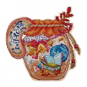 Набор для вышивки крестом Alisena 5563 Баночка – Сентябрь