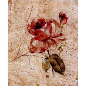 Набор для вышивки Candamar Designs 51345 Rose on Cracked Linen