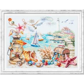 Морской бриз Набор для вышивки крестом Чудесная игла 120-400