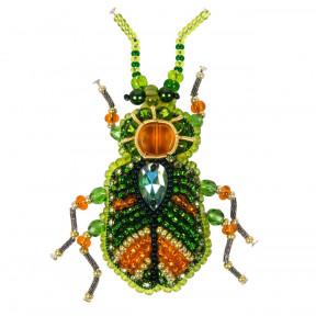 Зелёный жук Набор для изготовления броши Crystal Art  БП-329