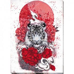 Бай-ху (Белый тигр) Набор для вышивки бисером Абрис Арт АВ-814