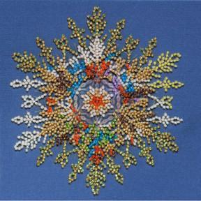 Снег искрится Набор для вышивки бисером Абрис Арт AM-236