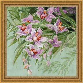 Набор для вышивки крестом Риолис 1401 Тропические орхидеи
