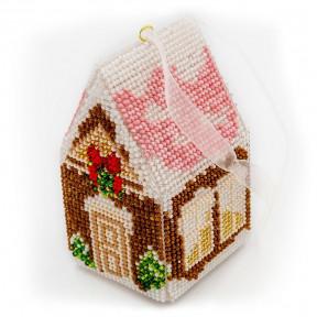 Набор для вышивания бисером объемной новогодней игрушки Golden Key N-004
