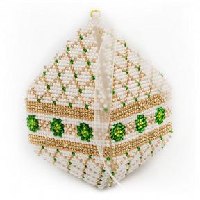 Набор для вышивания бисером объемной новогодней игрушки Golden Key N-029