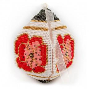Набор для вышивания бисером объемной новогодней игрушки Golden Key N-034
