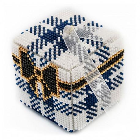 Набор для вышивания бисером объемной новогодней игрушки Golden Key N-036