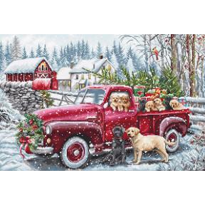 Рождественская доставка Набор для вышивания крестом L8014