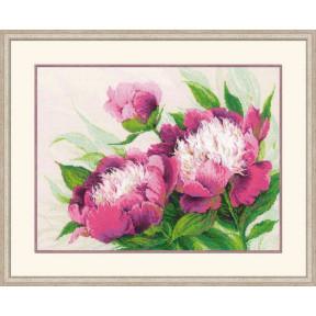 Набор для вышивки крестом Риолис v100/039 Розовые пионы