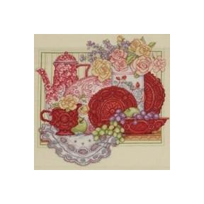 Набор для вышивания Bucilla 45575 Red Tea Set фото