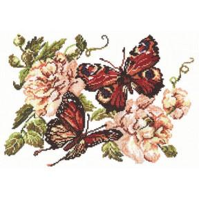 Набор для вышивки крестом Чудесная игла 42-06 Пионы и бабочки