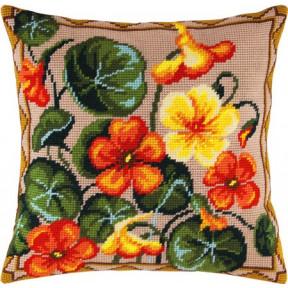 Набор для вышивки подушки Чарівниця V-02 Настурция