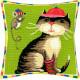 Набор для вышивки подушки Чарівниця V-32 Кот и мышка фото