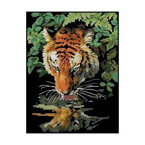 Набор для вышивки крестом Dimensions 06961 Tiger Reflection