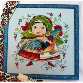 Набор для вышивания крестом Мережка С петушком К-11 фото