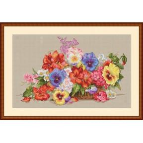 Набор для вышивания крестом Мережка Садовые цветы К-13 фото