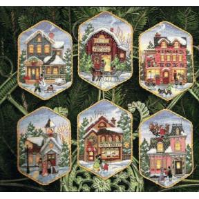 Набор для вышивания Dimensions 08785 Christmas Village Ornaments