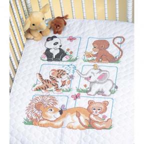 Набор для вышивания одеяла Dimensions 13083 Animal Babes Quilt