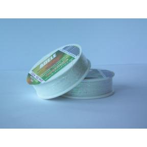 Металлизированная нить плоская Люрекс Адель 80-01 белая хамелеон 100м