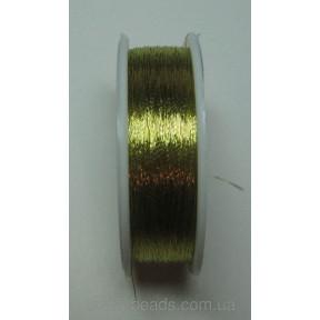Металлизированная нить круглая Люрекс Аллюр 100-14 золото бронза 100м