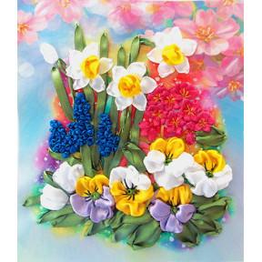 """НЛ-4015 Набор для вышивания лентами Марічка """"Первоцветы"""""""